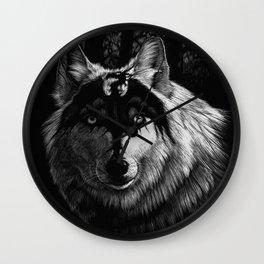 Dragon Wolf Wall Clock