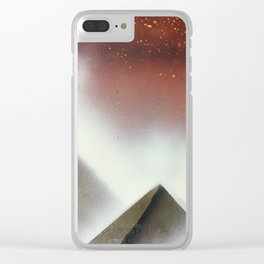 Just Pyramids Clear iPhone Case