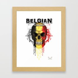 To The Core Collection: Belgium Framed Art Print