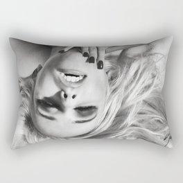 7088 Erotica Nude | XOX Platinum Blonde Girl Rectangular Pillow