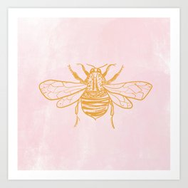 light pink bumblebee Art Print