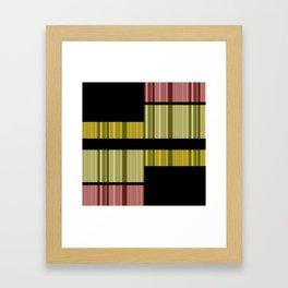 An abstract geometric pattern . Alex 5. Framed Art Print