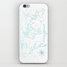 Where We've Been, World, Icy Blue iPhone Skin