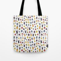 bugs Tote Bags featuring Bugs by Marina Eiro