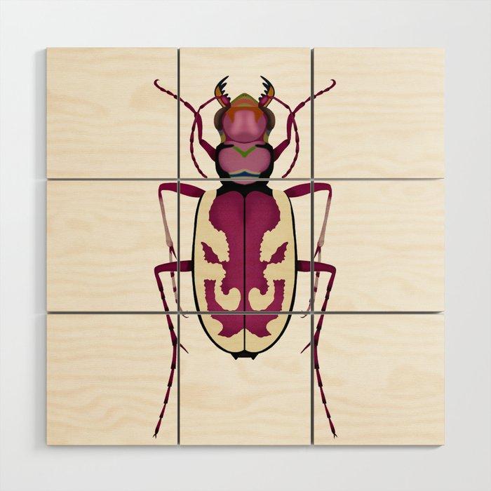 Blowout Tiger Beetle Wood Wall Art