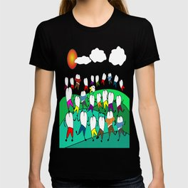 Whimsical Frolicking Teeth T-shirt