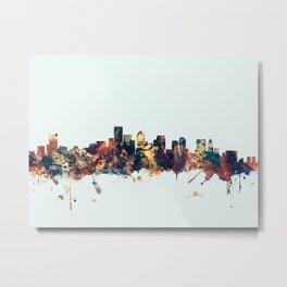 BostonMassachusetts Skyline Metal Print