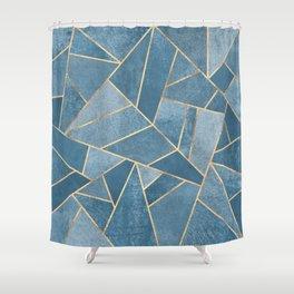 Dusk Blue Stone Shower Curtain