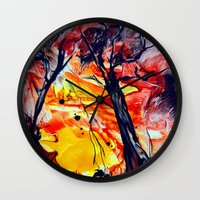 sunrise Wall Clocks featuring SunRise by ART de Luna
