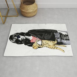 Cat and JoeyRamone Rug
