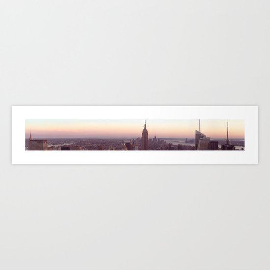 New York City - Manhattan Panorama Art Print