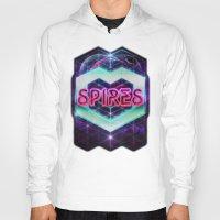 spires Hoodies featuring Spires 80's Neon  by Spires