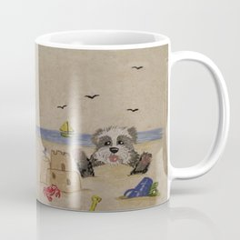 Sheepie at beach 1 Coffee Mug