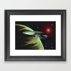 Enterprise NCC 1701D Framed Art Print