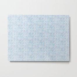 Plaza Inspired Tile Pattern Metal Print