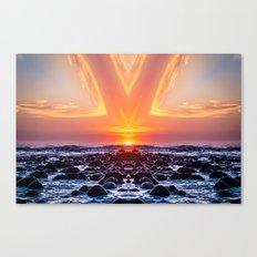 Kaleidoscape: El Tunco Canvas Print