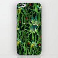 fireflies iPhone & iPod Skins featuring fireflies by kociara