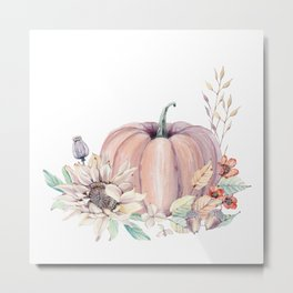 Autumn Pumpkin Metal Print