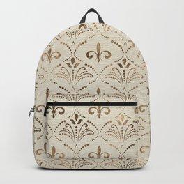 Elegant Fleur-de-lis pattern - pastel gold Backpack