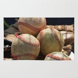 Baseballs and Glove Rug