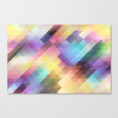 Geometric Blurred Pastels Canvas Print