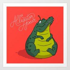 Alligator Pear Art Print