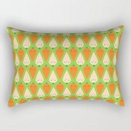 Happy Carrots & Parsnips Rectangular Pillow