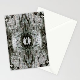 Abstract Maple Tree Bark - Natural Patterns - Maple & Lichen - Old Mossy Maple Tree Bark Stationery Cards
