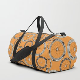 bike wheels amber Duffle Bag