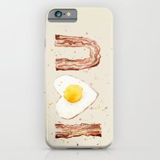Bacon and Egg I love You Breakfast Food I heart iPhone 6s Slim Case