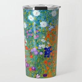 Gustav Klimt Flower Garden Travel Mug