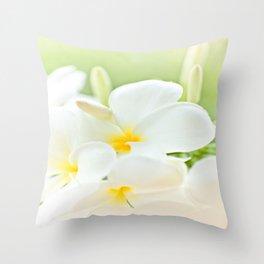 White Plumeria 2 Throw Pillow