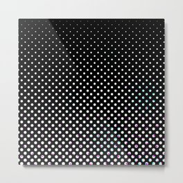 Black & white circles Metal Print