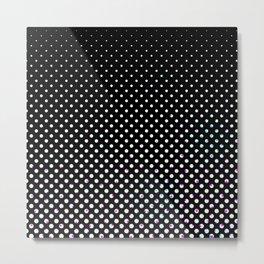 Black & white circles Metal Print
