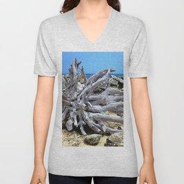 Bermuda  Driftwood Unisex V-Neck