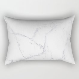 Gray white elegant modern abstract marble Rectangular Pillow