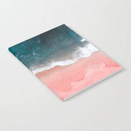 Turquoise Sea Pastel Beach III Notebook