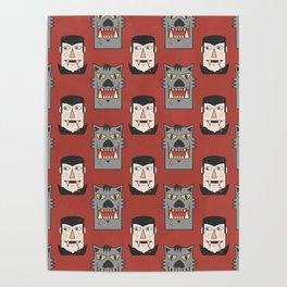 Vampires vs Werewolves (Patterns Please) Poster
