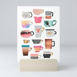 Coffee Cup Collection Mini Art Print