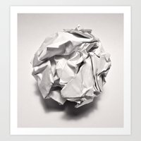 paper Art Prints featuring White Trash by pixel404