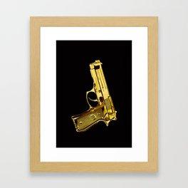 Golden Gun Framed Art Print