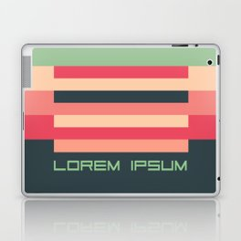Lorem Ipsum retro colors Laptop & iPad Skin