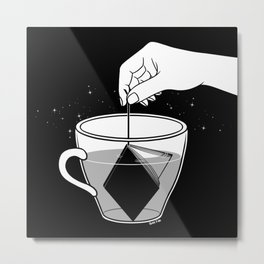 A Cup of Book Metal Print