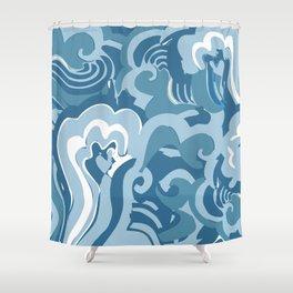 save the ocean Shower Curtain