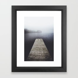 Fading into the mist Framed Art Print
