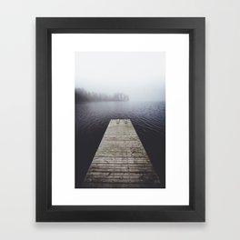 Fading into the mist Framed Art Print