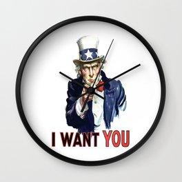 Uncle Sam I Want You Wall Clock