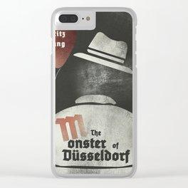 Fritz Lang, M The monster of Düsseldorf, Peter Lorre, minimalist movie, thriller, German film Clear iPhone Case