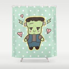 Kawaii Little Frankenstein Shower Curtain