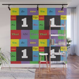 Number One Colorful Many Languages Wall Mural